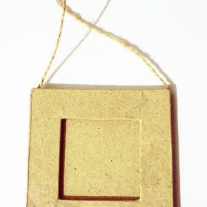 Mini cadre en papier mâché 8 cm - Carré