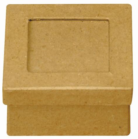Boîte en carton carrée avec emplacement photo - 7,5 cm