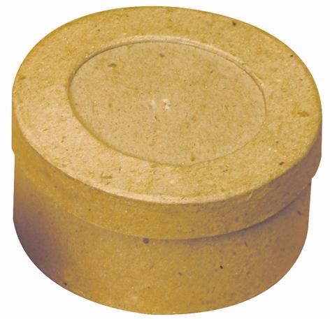 Boîte en carton ronde avec emplacement photo - 7,8 cm