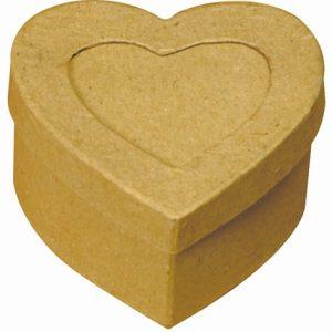 Boîte en carton Cœur avec emplacement photo - 7,5 cm