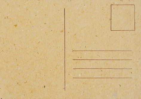 Carte postale à décorer 15 x 10,5 cm
