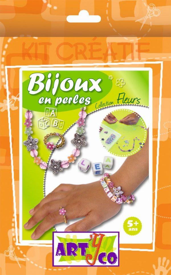 Kit de création de bijoux en perles fleurs