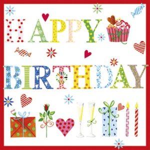 Serviettes en papier - Happy birthday
