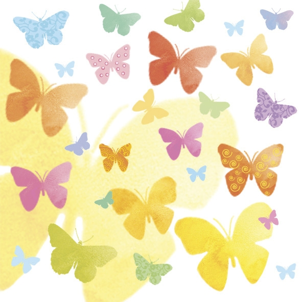 Serviettes en papier - Butterflies