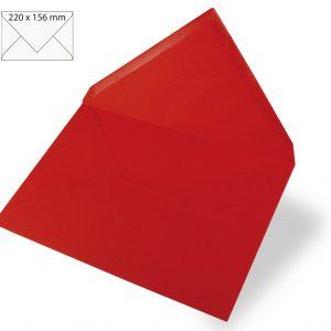 Enveloppes pour cartes A5 ROUGE CLASSIQUE