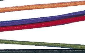 Lanière ronde en cuir de bœuf 2 mm x 1m - Coloris assortis