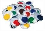 Yeux mobiles 15 mm - Assortiment de couleurs