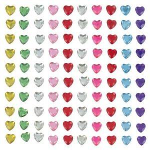 Assortiment de cabochons - Cœurs multicolores 6 mm x 100