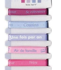 Rubans imprimés Famille - 6 x 1 m