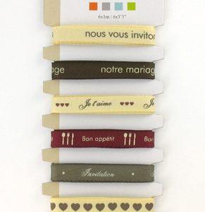 Rubans imprimés Mariage - 6 x 1 m