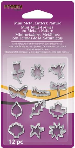 Mini emporte-pièces en métal - Assortiment Nature x 12