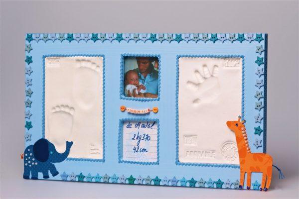 Cadre empreinte bébé et photo - Grand kit