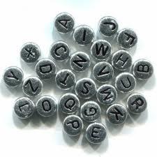 Perles alphabet en métal