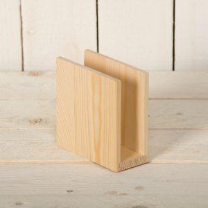Porte serviette vertical en bois - 12 cm