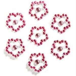 Strass à coller - Fleur rose x 7