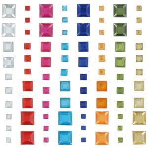 Strass autocollant - Diamant carré x 80