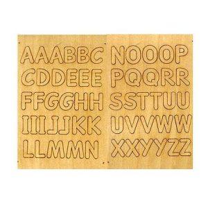 Alphabet en bois autocollant