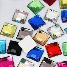 Strass acrylique carré